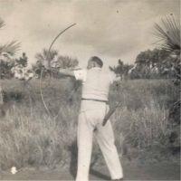 Verne Adams - flight distance archery champion.